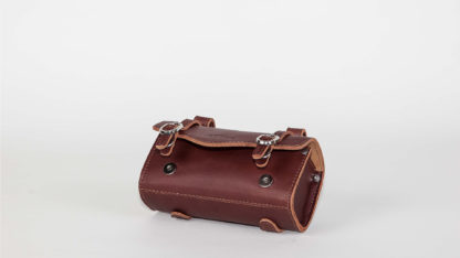 Brown leather STRIDA saddlebag - bag - Saddle bag - ST-SB-008 - strida