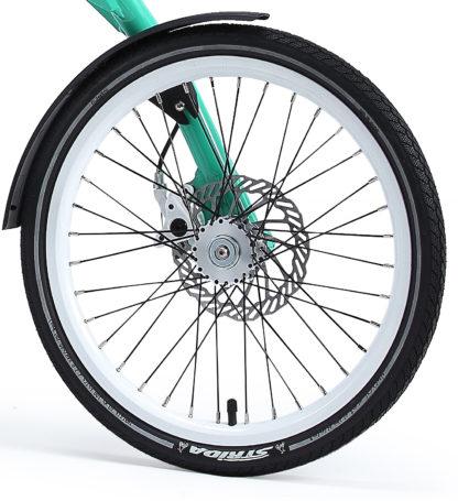 """Speichenrad-Satz 18"""", Felge mit Bremsscheiben und Freilauf - weiss (ohne Reifen) - 448-18-white-set brakediscs freewheel - Rad - Räder"""