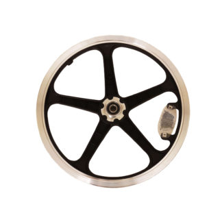 Rear 16-inch STRIDA LT Rim black wheel - 448-16-LT-black-rear - Wheel - Wheels