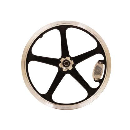 16 pouces roue à bâtons arrière (noir) - 448-16-LT-black-rear - frein - Roue