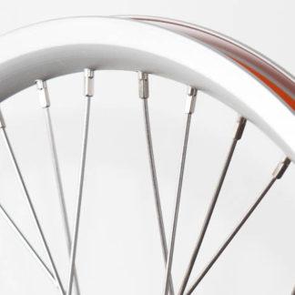 18 pouces roue à rayons avant STRIDA en aluminium (argent) - 448-18-spoke-silver-front - frein - Roue