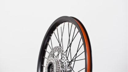 """Speichenrad-Satz 18"""", Felge mit Bremsscheiben und Freilauf - schwarz (ohne Reifen) - 448-18-black-set brakediscs freewheel - Rad - Räder"""