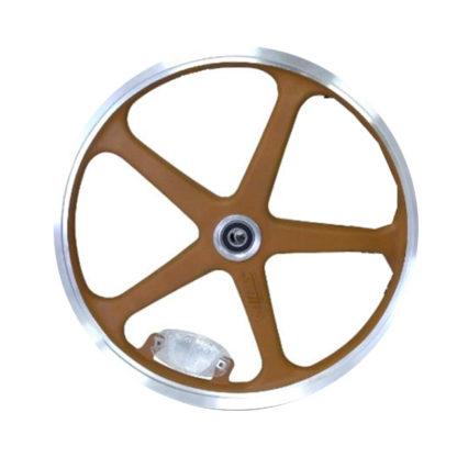16 pouces roue à bâtons avant (marron) - 448-16-LT-brown-front - frein - Roue