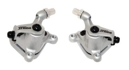 Silver colored STRIDA disc brake clamps - 240 340-04-silver - Brake clamp - Brakes