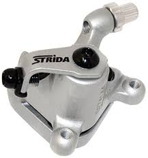 STRIDA Brake caliper REAR, silver - 340-04-sil - Brake clamp - Brakes