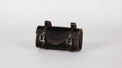Black leather STRIDA saddlebag - bag - Saddle bag - ST-SB-009 - strida