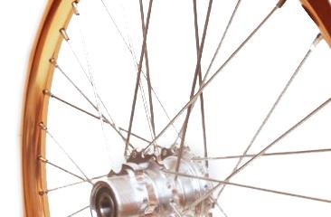 Kupferfarbene 18-Zoll-Aluminium STRIDA Speichen-Laufrad hinten - 18 Zoll - 448-18-spoke-copper-rear - Rad