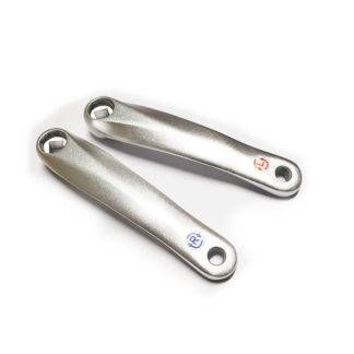 STRIDA EVO crank set R & L,Color:Silver - 129 - crank - silver colored - strida