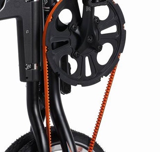 Courroie orange STRIDA pour 3, 5, LT, SX et EVO - 121-OR - 5 - Ceinture Kevlar - Courroie - evo 3s - kevlar - lt - orange - strida - sx