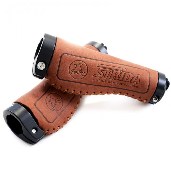 Poignées comfort en cuir (marron) - cuir - Marron - Poignées - ST-GP-001