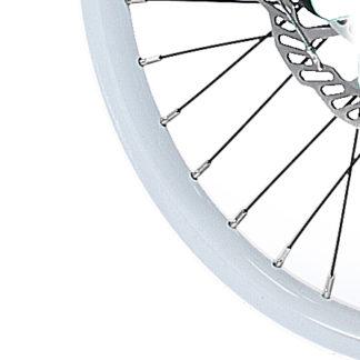 Weißes 18-Zoll-Aluminium STRIDA Speichen-Laufrad vorne - 18 Zoll - 448-18-spoke-white-front - Rad