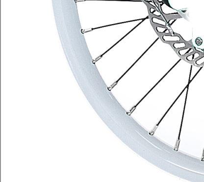 Witte 18 inch aluminium spaakwiel velg STRIDA voor - 18 inch - 18 inch - 448-18-spoke-white-front - wiel