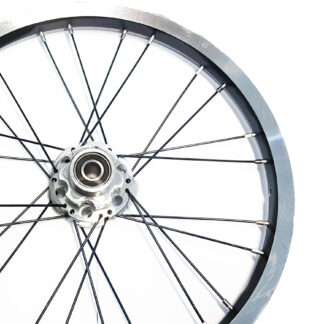 Rear 16-inch STRIDA Rim Black Aluminium wheel - 448-16-spoke-black-rear - Wheel - Wheels