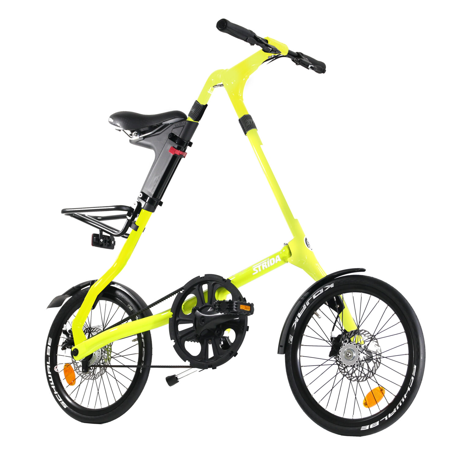 STRIDA SX Neon Venus - 18 inch - bike - Buy foldable bikes - Buy folding bicycle - Buy folding bike - Buy folding bikes - buying - collapsible bike - Design bike - Design folding bike - foldable bike - Folding bicycle - Folding bike - Folding bike shop - Folding bikes - for sale - Lightweight - new - shop - Single speed - strida - Strida design folding bike - sx - Triangular - Triangular folding bike - Triangular shaped - unique folding bike